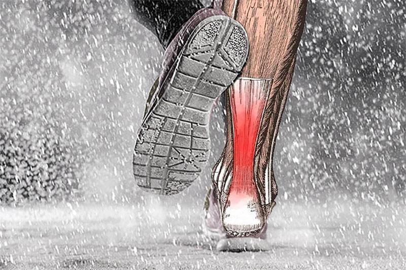 ont i hälsenan löpning