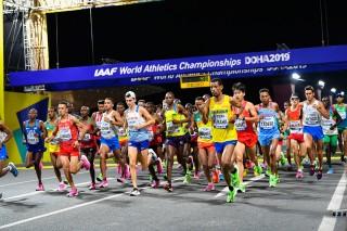 Adhanom Abraha på VM i maraton 2019.