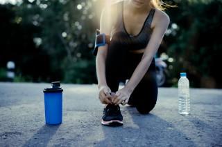 dricka innan träning