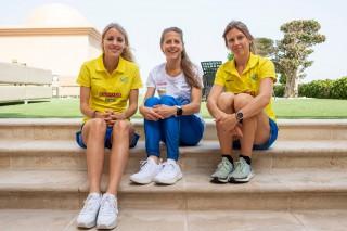 Cecilia Norrbom, Charlotta Fougberg och Johanna Bäcklund.