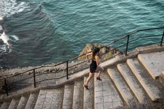 Löpning i trappor.